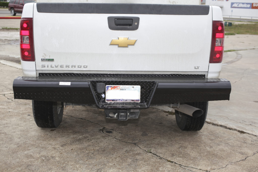 traditional single rear bumper