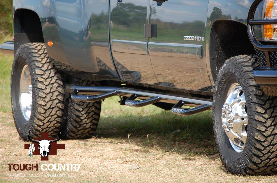 deluxe step bars dually tough country bumpers. Black Bedroom Furniture Sets. Home Design Ideas