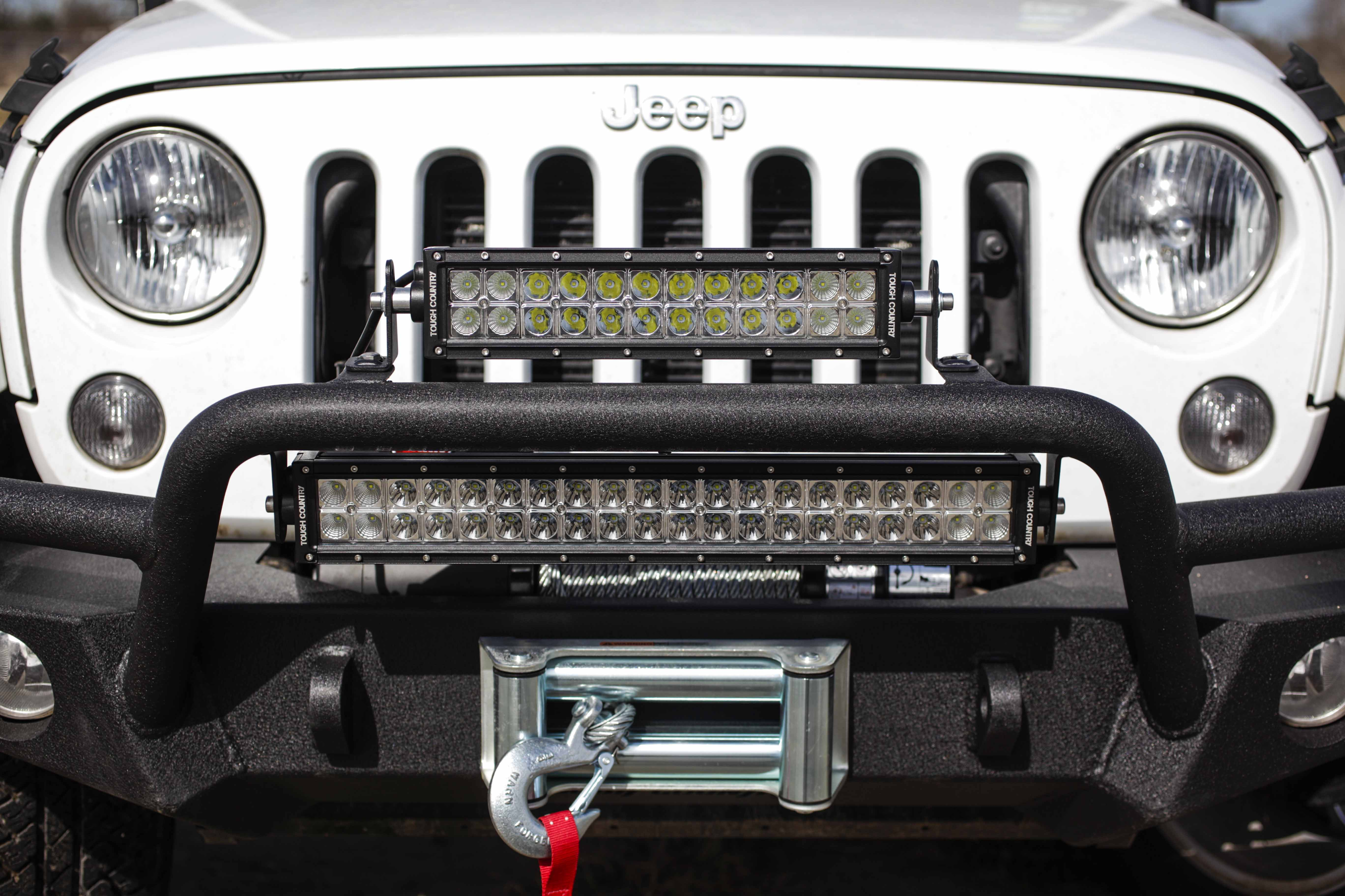 wrangler jeep suspension black stubby winch bumper rough jk series leds systems bumpers country led front w for
