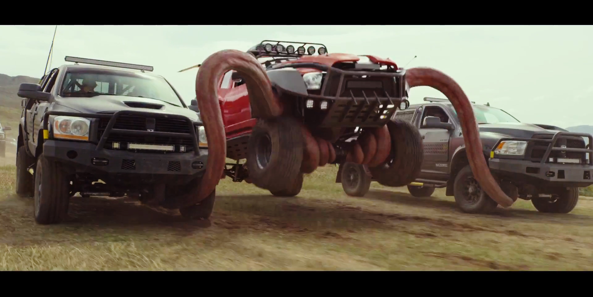 "2016 Dodge Ram >> Tough Country bumpers appear in ""Monster Trucks"" film 